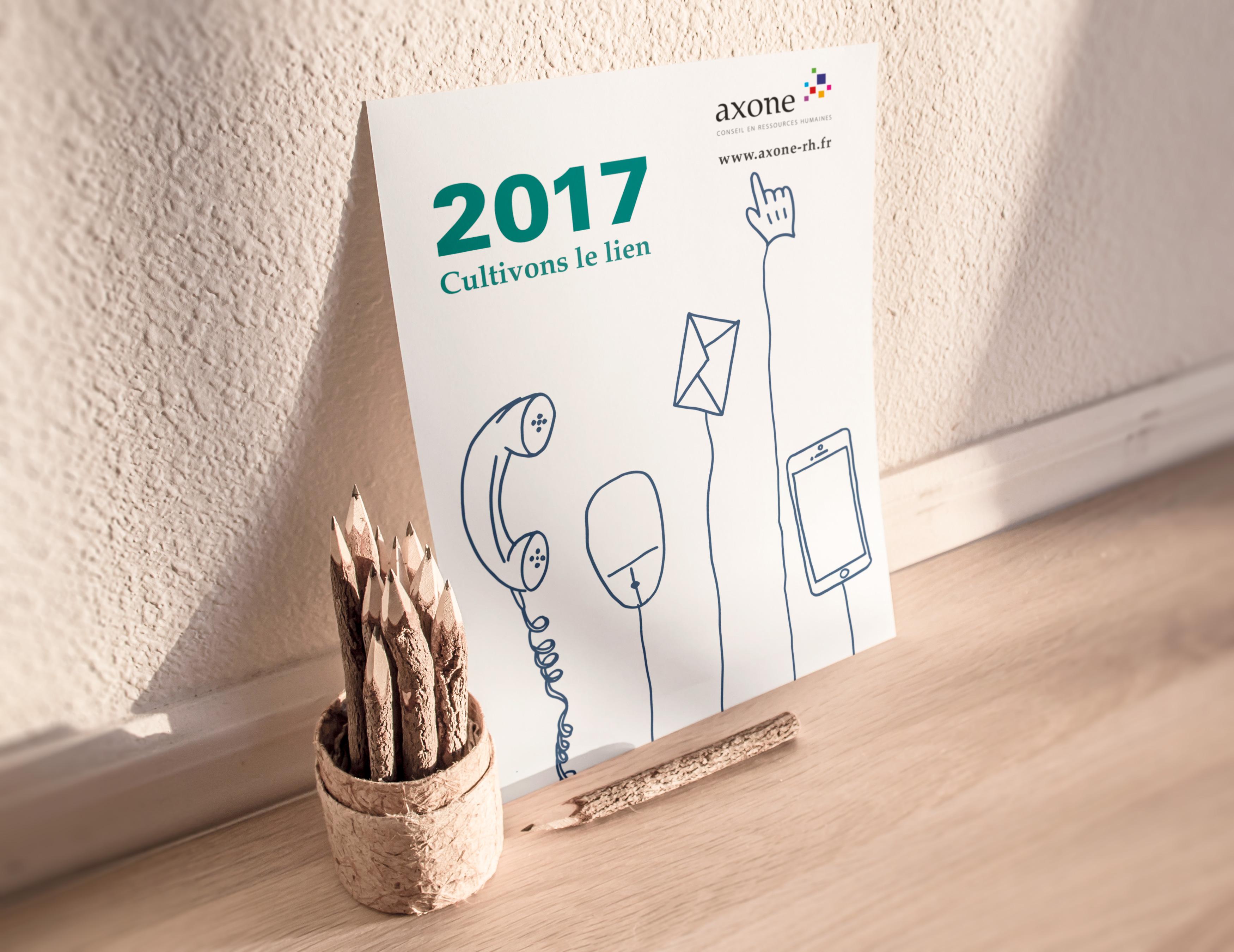 Carte de vœux Axone 2017