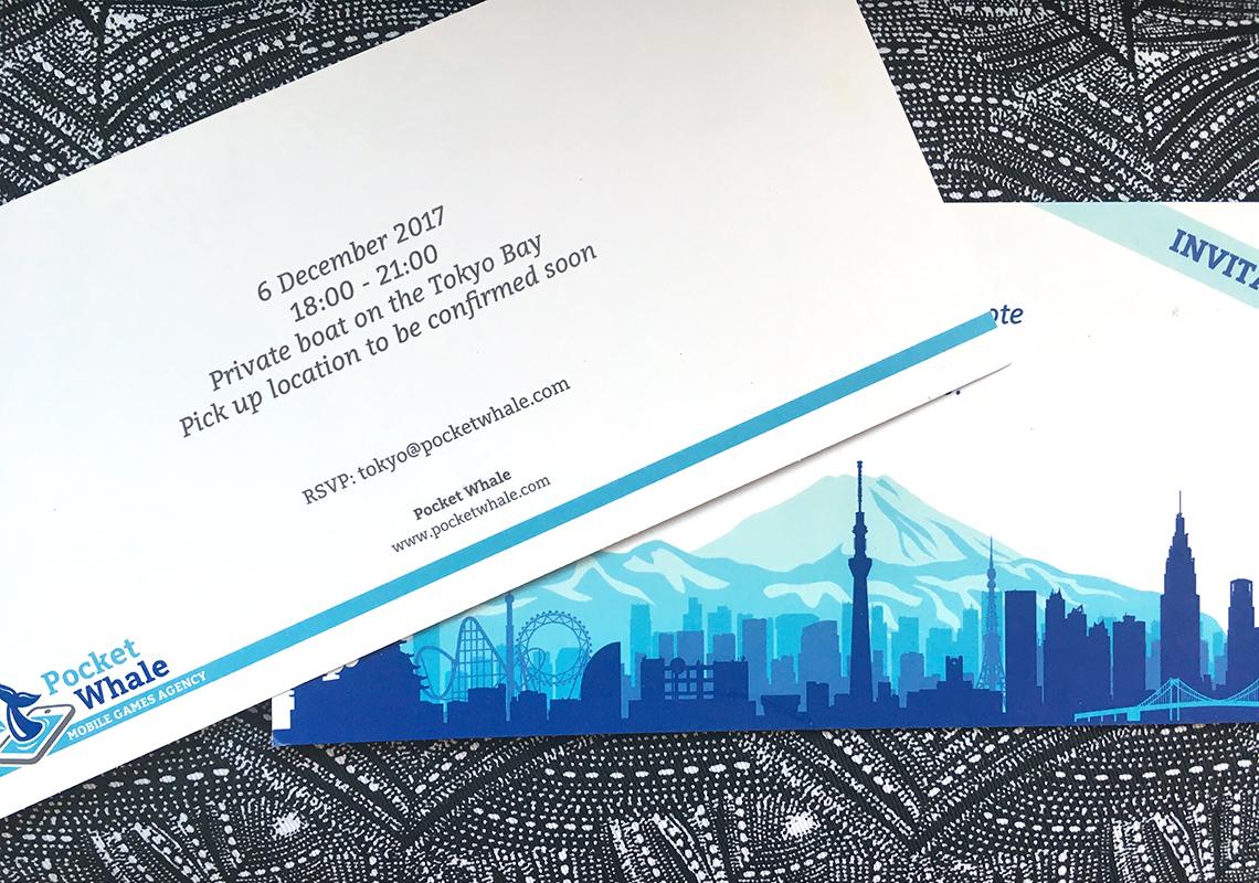 Carton d'invitation Pocket Whale